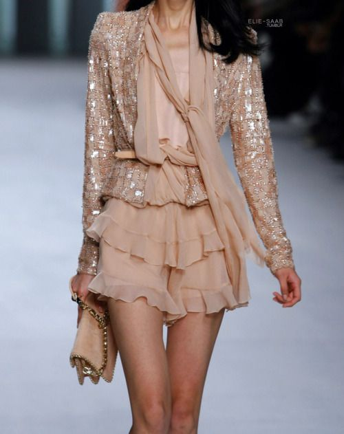 peach: Ruffle, Pink Sparkle, Blushes Pink, Elie Saab, Color, Ellie Will Be, Dresses, Outfit, Girly Girls
