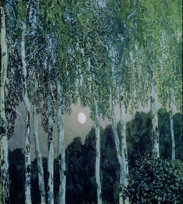 birch trees by aleksandr golovin
