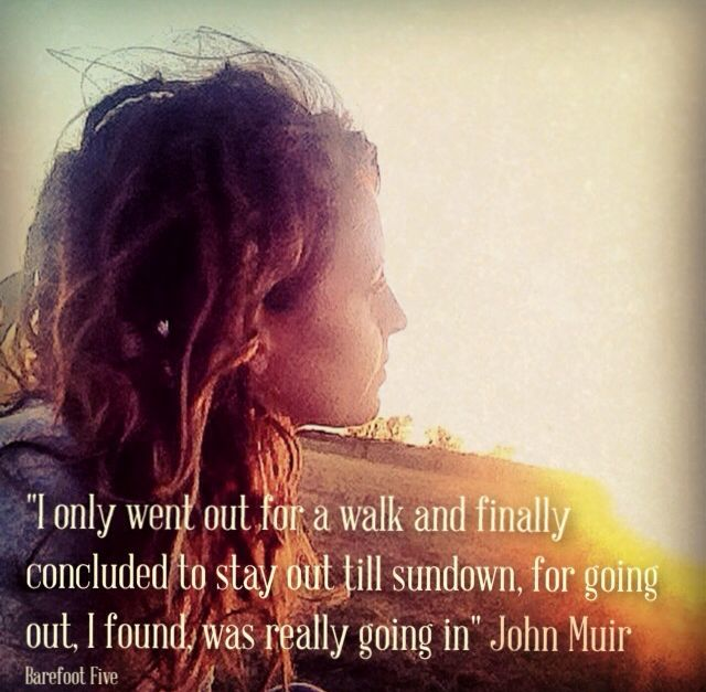 """""""I only went out for a walk and finally concluded to stay out till sundown, for going out, I found, was really going in"""" #johnmuir #quote #nature ✨✨"""