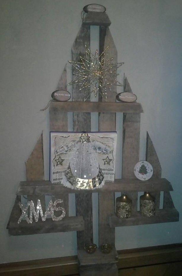 Kerstboom van oude pallet