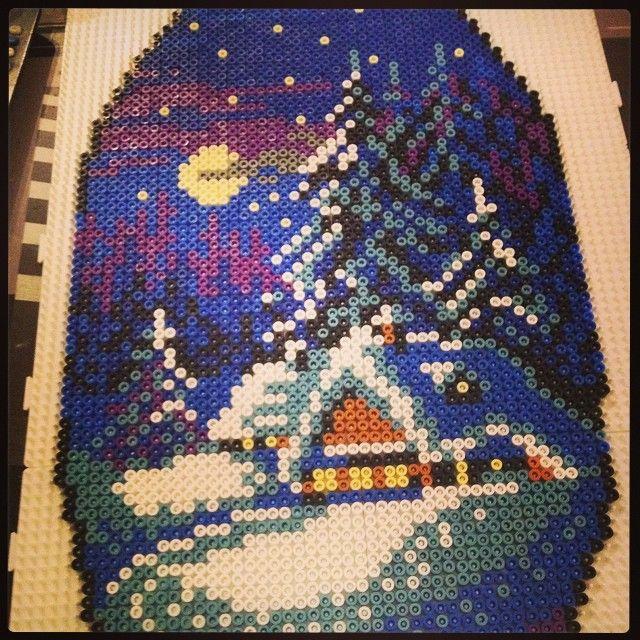 Winter landscape perler beads by stelloudraw
