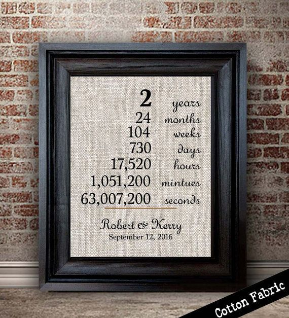 Anniversary Gift For Wife Cotton Traditional 2 Year Etsy 12 Year Anniversary Gifts Anniversary Gifts For Wife 12th Anniversary Gifts