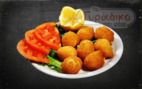 Κάτι για να ανοίξει η όρεξη...Τυρένιες λαχταριστές κασεροκροκέτες με ντοματούλα και λεμόνι! www.togyradiko.gr
