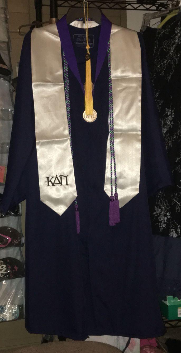 Kappa Delta Pi graduation regalia.