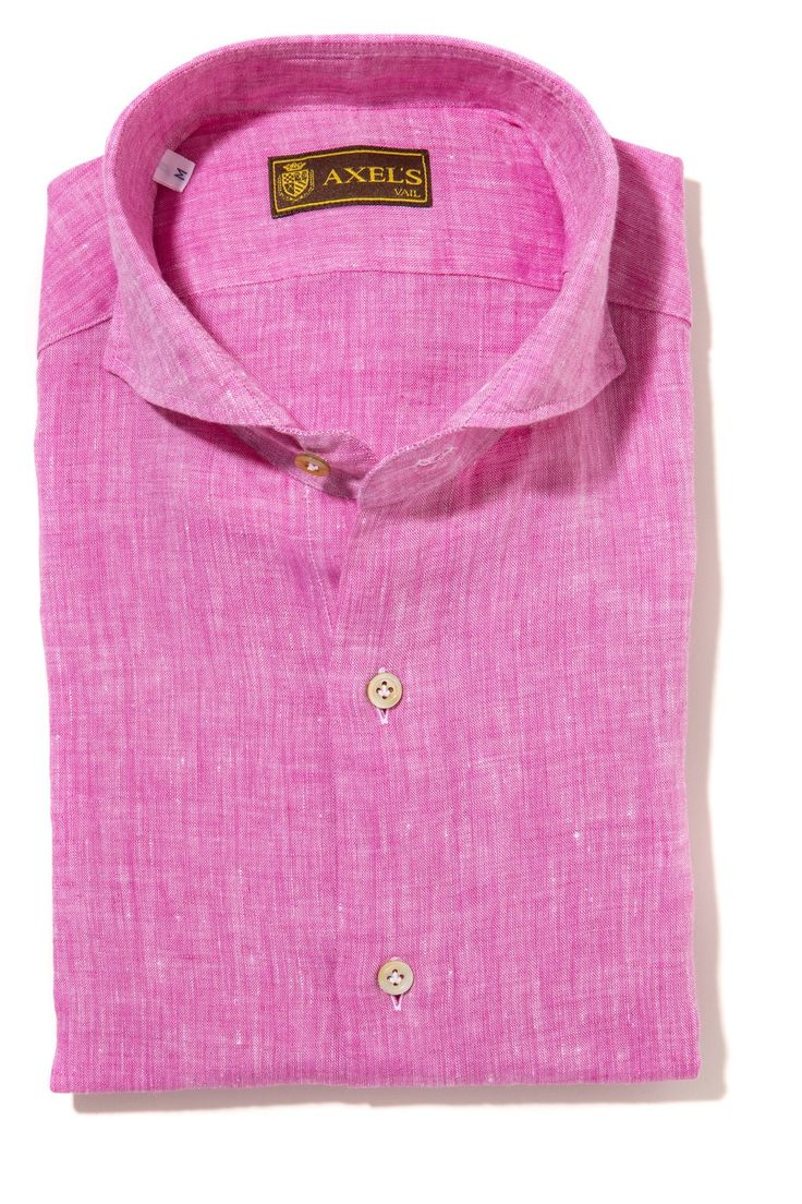 Axel's Signature Lioni Linen Shirt in Pink - Mens - Shirts - AXEL'S - 1