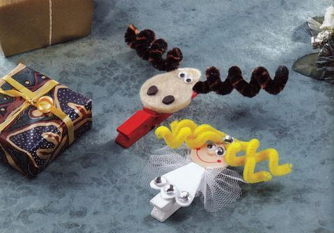 Figurine din sarma plusata - Clame cu ingeras si ren