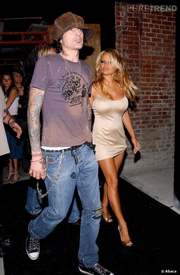 Pamela Anderson et son ex-mari Tommy Lee, le premier d'une longue liste. Une relation qui a duré de 1995 à 1998.