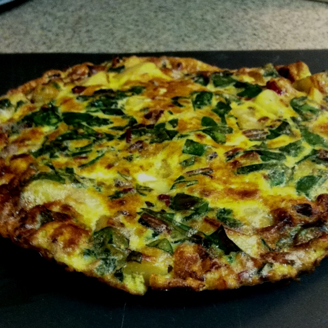 Swiss chard and potato frittata | Recipes | Pinterest