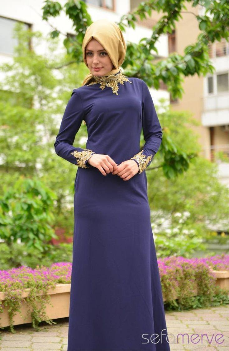 Sefamerve Abiye Elbiseler PDY 4721-03 Lacivert