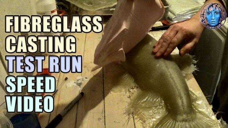 Fibreglass Casting Test Run   Speed Video