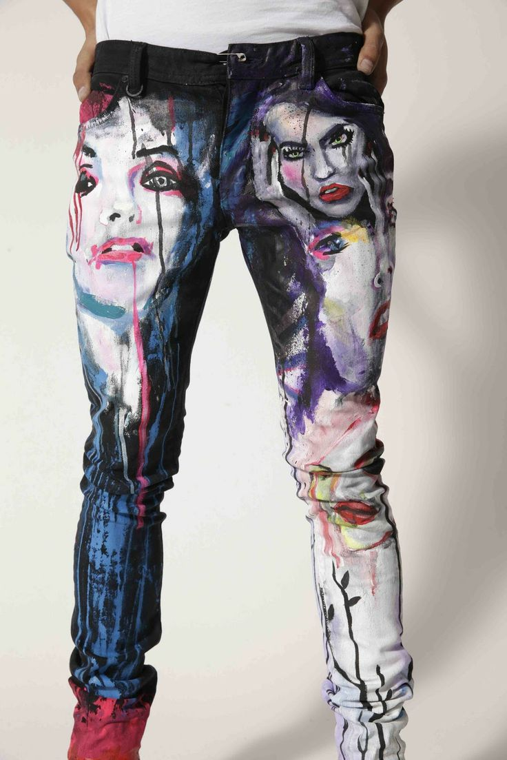 46 best painted pants images on pinterest painted jeans for Paint on clothes