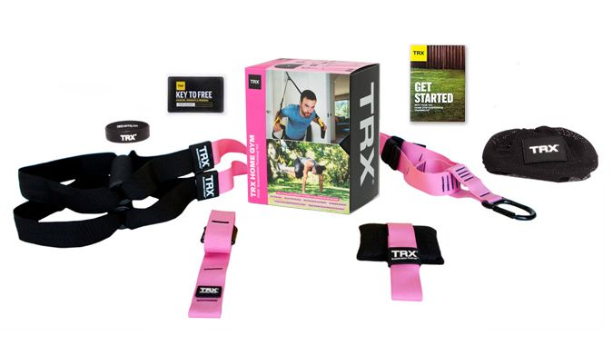 Get your pink suspension training home kit today.  Train & empower while supporting breast cancer research. #TRX #TRXHomePink
