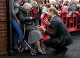 Look Away Meghan! Prince Harry Reunites With His Other No. 1 Girl 99-Year-Old Winnie Hodson