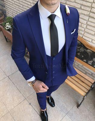 7b0c597542d46 Terziademaltun - İtalyan stil yelek ceket pantolon erkek takım elbise T2094  parlement