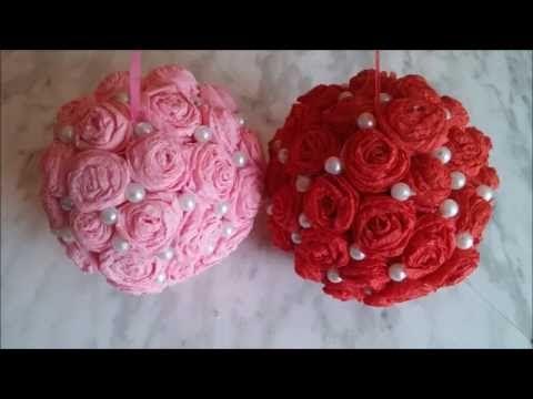 DIY How to make Crepe Paper Rose Flower || DIY How to make Crepe Paper Rose Flower + Tutorial . - YouTube