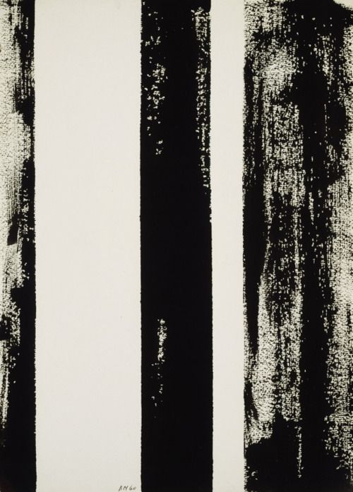 Black | 黒 | Kuro | Nero | Noir | Preto | Ebony | Sable | Onyx | Charcoal | Obsidian | Jet | Raven | Color | Texture | Pattern | Styling |  Barnett Newman, Untitled, 1960 Expresionismo Abstracto EEUU