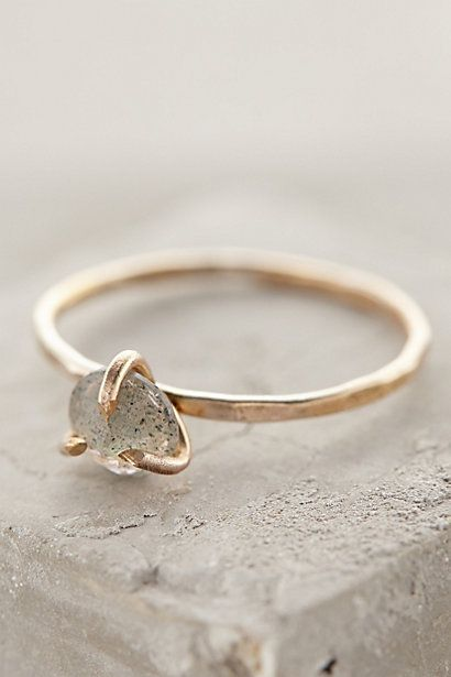Serena Ring - anthropologie.com uses a simple stone setting.
