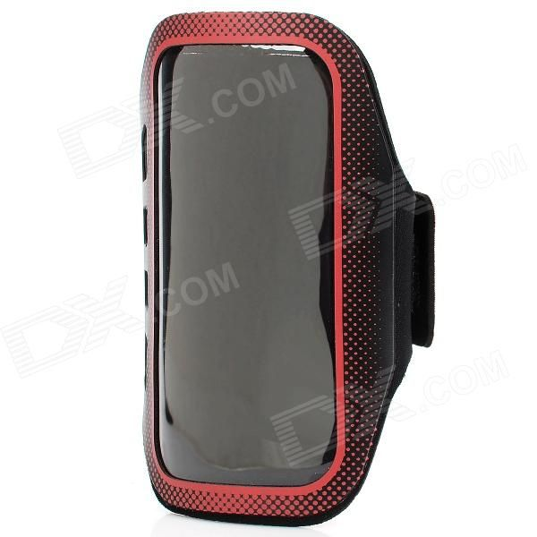 Quantity: 1 Piece; Color: Red + black; Material: Fiber + waterproof material; Band Length: 45cm; Compatible Models: Samsung S4 i9500; Other Features: Provides complete protection for your device; Enjoy music while jogging, running, exercising, or working out; Adjustable Velcro band lets you adjust your arm band for maximum comfort; Packing List: 1 x Sports armband; 1 x Stylus pen (with anti-dust plug); http://j.mp/VzlDZS