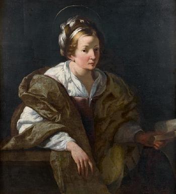 Γυναικεία μορφή με φωτοστέφανο