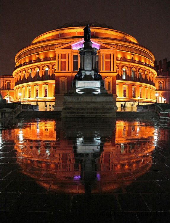 The Royal Albert Hall is a concert hall in west London best known for hosting the annual summer Prom concerts. Queen Victoria named the building in honour of her late husband Prince Albert.