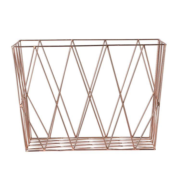 Bloomingville Square Storage Basket - Copper