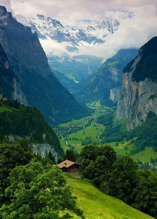 Interlacken, Switzerland. So unbelievably beautiful but was the coldest place I have ever been in!!