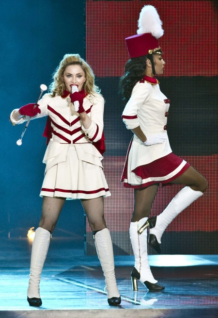 Majorette Madonna...yeah, not so much!!