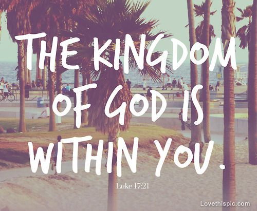 The kingdom of God is within you quotes photography ocean god jesus