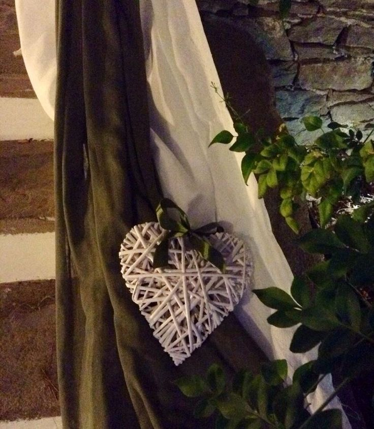 Wedding decoration - flower arrangement -  white roses and olive tree branches