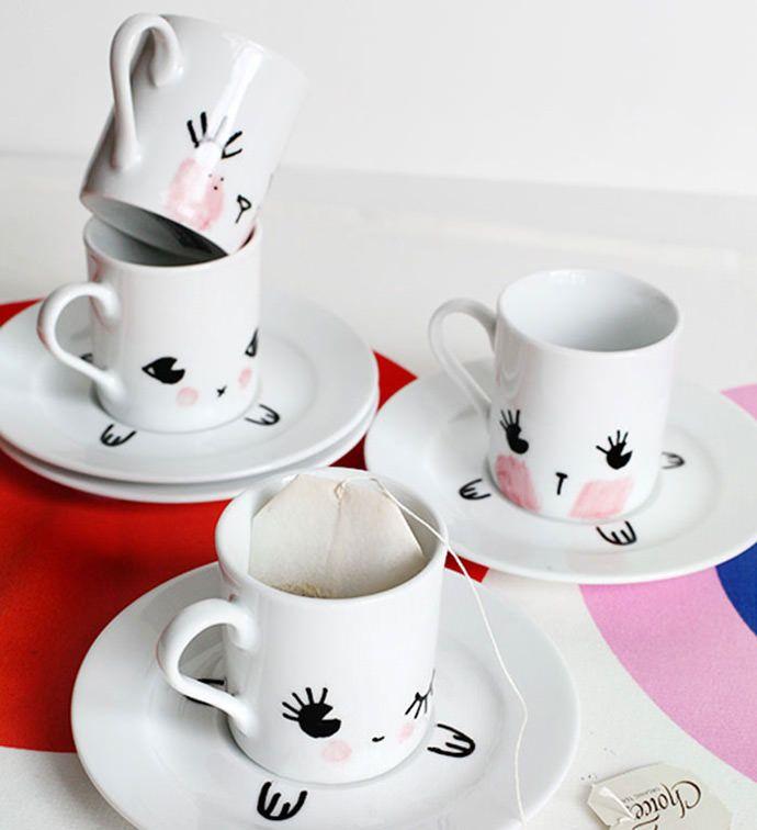 82 besten diy porzellan bemalen bilder auf pinterest. Black Bedroom Furniture Sets. Home Design Ideas