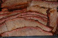 Mom's Brisket Recipe  1 - 4-5 lb, BRISKET, FLAT CUT ONLY 1 CAN CRANBERRY SAUCE (JELLIED) 1 JAR CHILI SAUCE 1 PKG. LIPTON ONION SOUP MIX SEASON-ALL   WASH AND DRY BRISKET. SPRINKLE W/ SEASON-ALL AND PLACE UNDER BROILER TO SEAR MEAT.  TURN OVER & REPEAT.   MIX CRANBERRY SAUCE, CHILI & ONION SOUP MIX & POUR OVER BRISKET.   COVER PAN TIGHTLY WITH FOIL & BAKE IN OVEN AT 325 DEGREES FOR 31/2 HOURS.     WHEN COMPLETELY COOL, REMOVE BRISKET FROM THE GRAVY AND SLICE AGAINST THE GRAIN.