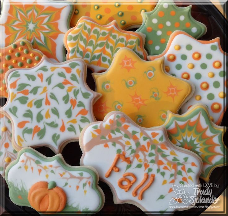 """Fall cookies that I made with frame cookie cutters from @ KarensCookies.net. Please re-pin to your little heart's content! :) True's Gift's From the Heart: Cookies Shaped Like Spellbinder Dies!!!! """" :)    True's Gift's From the Heart: Cookies Shaped Like Spellbinder Dies!!!! """" :)"""