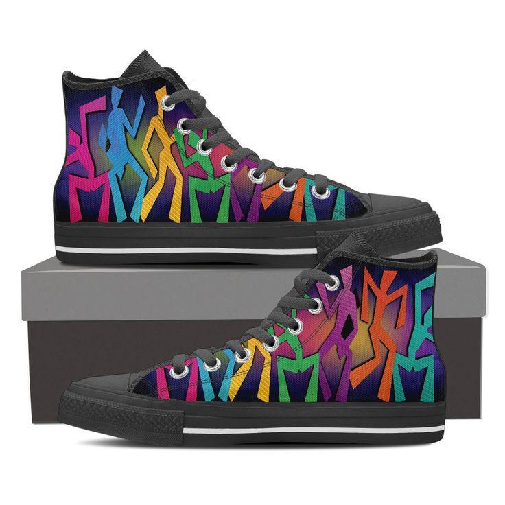 Mens & Womens High Top Shoes - Dancing People – My Shopn
