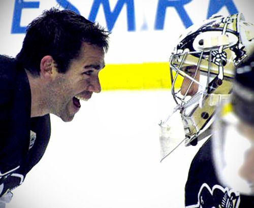 Pascal Dupuis and Marc-Andre Fleury. Missing you on the ice Duper!