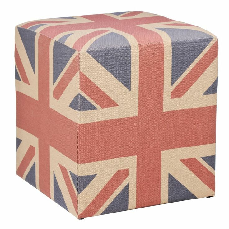Marvelous Use As A Footstool Or Occasional Furniture. Fabric Covered, Union Jack, Cube  ...