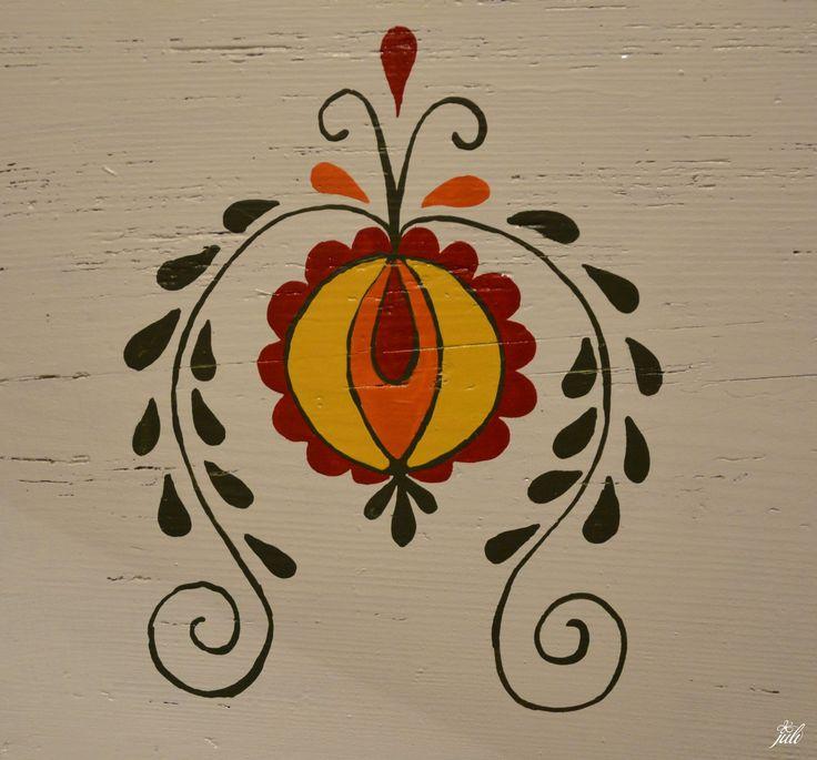 painting - ornamenty som si vymyslela, takze urcite nehladajte region, je to salgovsky novodoby ornament