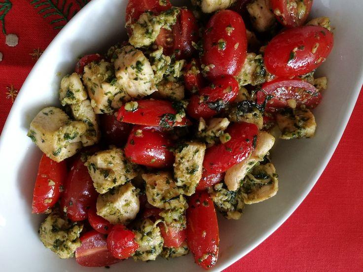 Pollo al Pesto y Tomate