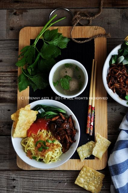 mie ayam jamur by rennyART, via Flickr