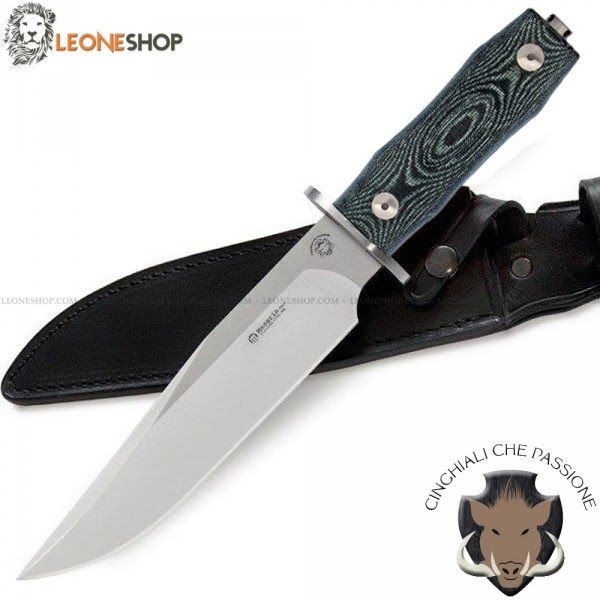 "Maserin Boars Bowie Knife 977/MCV - Designed in Collaboration with the Group of Boars Hunters ""Cinghiali che Passione"" - Leoneshop Usa"