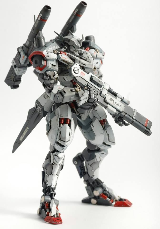 Custom Build: HG 1/144 Hyakuren Azee Custom #mecha – https://www.pinterest.com/pin/527132331372047543/