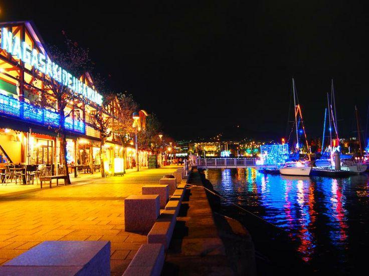 Winter Illuminations at Dejima Wharf 1 Nagasaki City Festivals and events