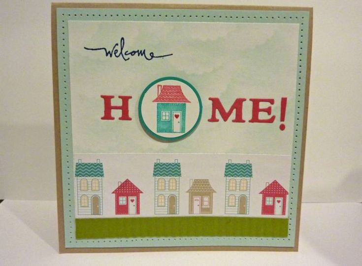 """Welcome """"home"""" by Jacki R. - Cards and Paper Crafts at Splitcoaststampers"""