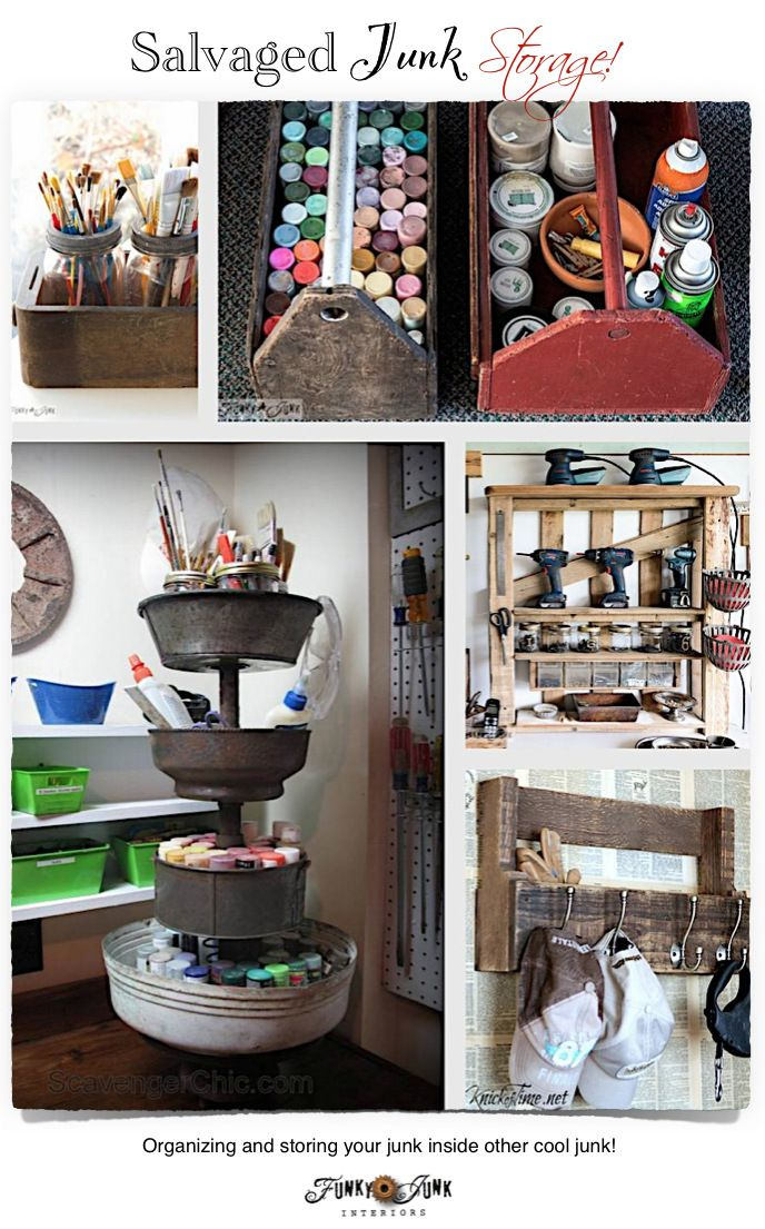 285 best images about decor junk galore on pinterest for Funky junk home decor newfoundland
