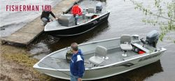 Alumacraft Boats Fisherman 160 Tiller - Multi-Species Fishing Boat - http://www.iboats.com/Alumacraft_Boats_fisherman_160_tiller/nb/mo103075-y2012/