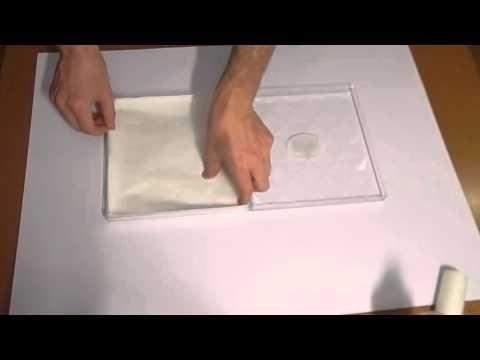 Strumenti per dipingere ad acrilico, tavoletta umettante.