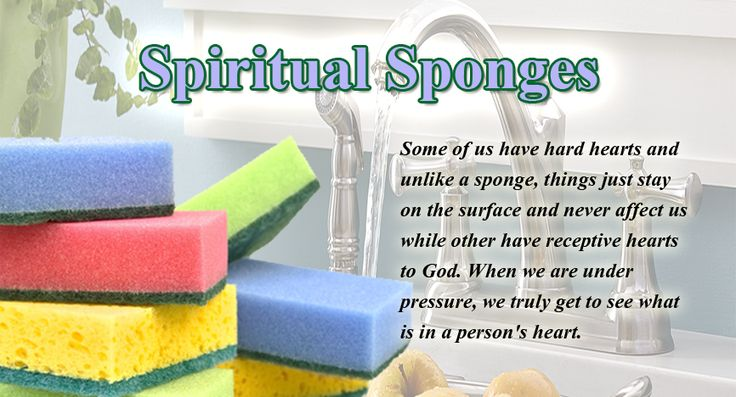 The main purpose of a sponge is to soak things up. When you squeeze a sponge, whatever is inside comes out. Both of these characteristics of a sponge provide metaphors for our hearts. These games are great for a little wet time during the hot summer and provide a nice illustration for the condition of our hearts.