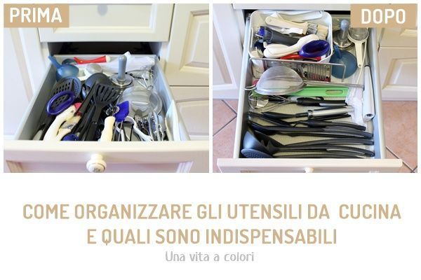 Come organizzare gli utensili da cucina e quali sono ...