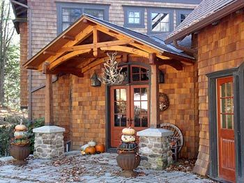 16 best images about traditional rustic homes on pinterest for Timber frame porch designs