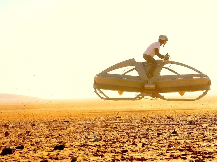 Flying hovercraft bike by Aerofex. California-based engineering company Aerofexhas conceived a star wars influenced 'flying speeder bike'. The mechanical engineered system implements a unique interface that tracks the user's movements and aerodynamically controls the functions of the vehicle, causing the craft to propel itself with higher efficiency and preventing it from rolling over.
