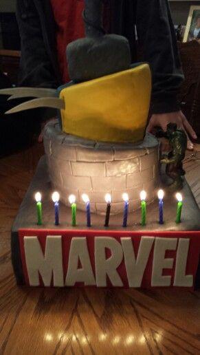 Marvel birthday cake